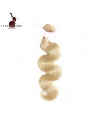 Tissage brésilien vierge ondulé blond ou gris