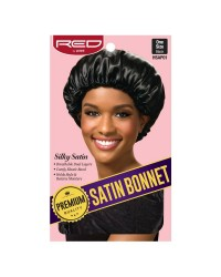 RED By Kiss: Premium Satin Bonnet - Black XL (HSAP01)