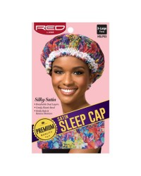 RED By Kiss Premium Satin Sleep Cap - Floral XL (HSLP0)