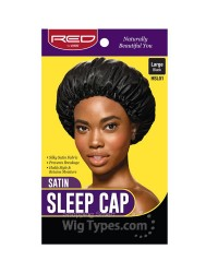 RED By Kiss Satin Sleep Cap - Black Large (HSL01)