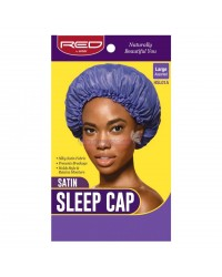 RED By Kiss: VioletSatin Sleep Cap - Asstd Large (HSL01A)