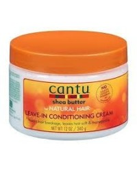 Cantu shea butter leave-in Conditioning Cream 12 oZ- 340g