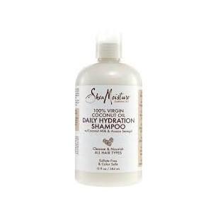 Shea Moisture Shampooing Hydratation quotidienne Daily Hydratation Shampoo100% Huile de coco vierge 384ml