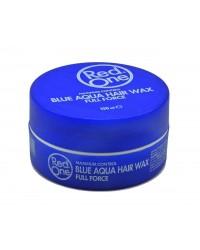 Red one Aqua hair wax Bleu