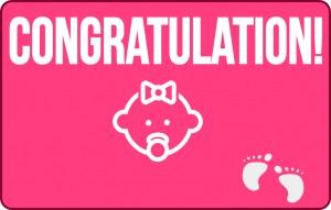 congratulation birth girl
